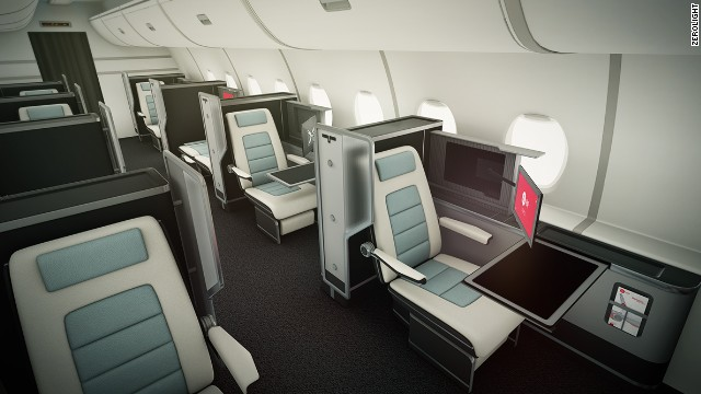A virtual tour of an airline cabin, courtesy of UK firm Zerolight.