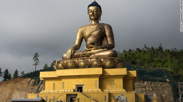 Due for completion next year, Thimphu, Bhutan's Buddha Dordenma will house 125,000 smaller Buddhas and a meditation hall.