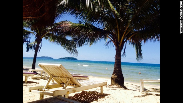 <strong>2. Sihanoukville, Cambodia:</strong> By day, snorkeling and diving are the water sports of choice at the Cambodian town of Sihanoukville. TripAdvisor reviewers recommend a visit to Ream National Park to see the tropical forest and Martini Beach for dining and a lovely sunset.