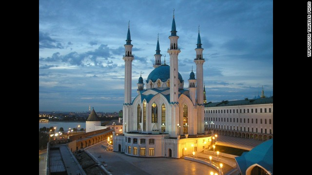 """<strong>8. Kazan, Russia: </strong>This historic town along the Volga River has stunning architecture to admire, including the Kazan Kremlin, which one TripAdvisor traveler says offers """"a mix of Orthodox Christian and Muslim cultures."""" Pashmir Restaurant offers authentic Uzbekistani cuisine."""