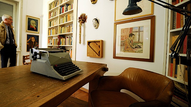 Everyone from Cormac McCarthy to Bob Dylan have used Olivetti typewriters to produce some of the world's best known novels and songs. Pictured is the Olivetti typewriter used by the Italian author Alberto Moravia to write some of his most famous works.