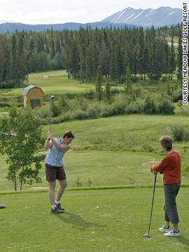 Games often extend well into the night at this nine-hole Canadian golf course within Whitehorse's city limits thanks to summer midnight sun.