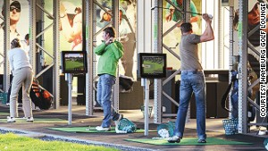 You can go for some lunch break swings or bring clients for a different golf setting.