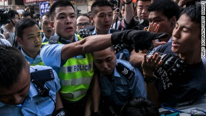 80 arrestsed in Hong Kong clashes