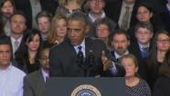 Obama heckled during immigration speech