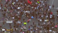 Protesters march through NYC and LA