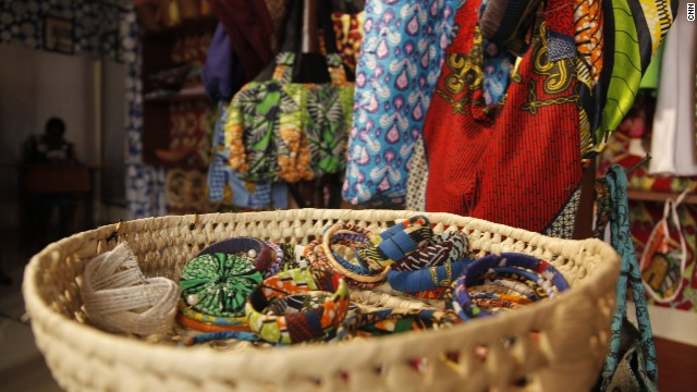 """We make bags with African designs, we make shoes with African fabrics, we make different designs of clothes, depending on what the customer is requiring,"" says Mbabazi.<!-- --> </br>"