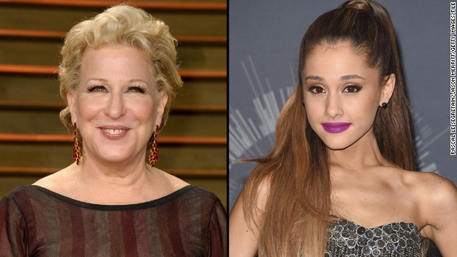 "In a recent interview with <a href='http://www.telegraph.co.uk/news/celebritynews/11246673/Bette-Midler-It-was-a-wonderful-life.html' target='_blank'>the Telegraph</a>, Bette Midler criticized Ariana Grande's pop act as being needlessly sexy, calling it ""terrible,"" ""ridiculous"" and ""silly."" When Grande heard about it, <a href='https://twitter.com/ArianaGrande/status/537366090087952384/photo/1' target='_blank'>she called Midler out</a> for being hypocritical. It wasn't long before Midler <a href='https://twitter.com/BetteMidler/status/537396849682812928' target='_blank'>bowed out of the fight, tweeting,</a> ""all I can say is, 'Spoken like a reformed old whore! She does have a beautiful voice, on a couch or off.' """