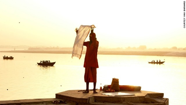 Morning sun lights up the Ganges in <a href='http://ireport.cnn.com/docs/DOC-1112357'>Varanasi</a>, India.