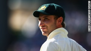 SYDNEY, AUSTRALIA - JANUARY 04: Phillip Hughes of Australia looks on during day two of the Second Test match between Australia and Pakistan at the Sydney Cricket Ground on January 4, 2010 in Sydney, Australia. (Photo by Ryan Pierse/Getty Images)