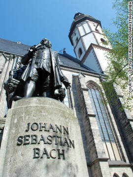 Part of the music trail, Thomaskirchhof houses the Bach Museum. Johann Sebastian Bach lived in a now-demolished building across the street.