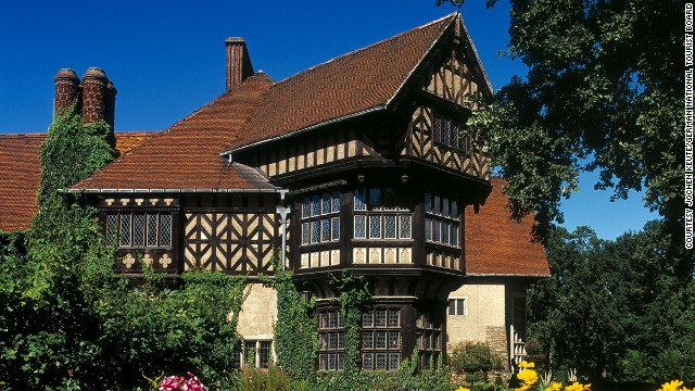U.S. President Harry Truman, British Prime Minister Winston Churchill and Soviet leader Joseph Stalin negotiated the partition of post-war Germany in 1945 at Potsdam's Tudor-style mansion, Cecilienhof.