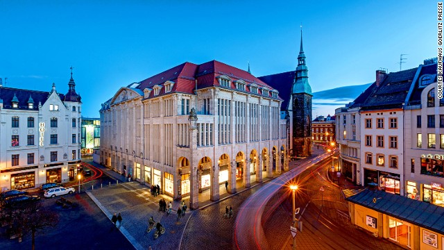 """Currently being restored, the Goerlitz Department Store was the setting for Wes Anderson's """"Grand Budapest Hotel."""""""