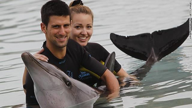 World No. 1 Novak Djokovic married his girlfriend Jelena Ristic after winning a second Wimbledon title in 2014.