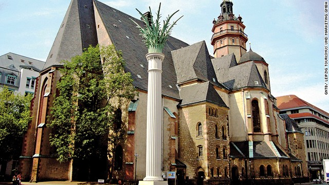 Leipzig was the center of the East German movement that brought down the Berlin Wall. A small prayer group at Nikolaikirche grew into a protest involving thousands of people.