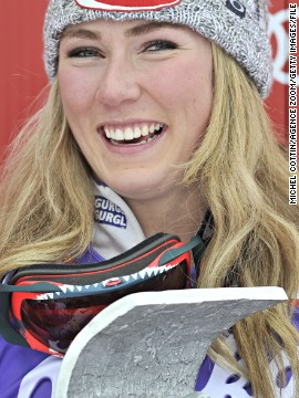 Last month at the World Cup season opener in Soelden, Austria, Shiffrin secured her first giant slalom win.