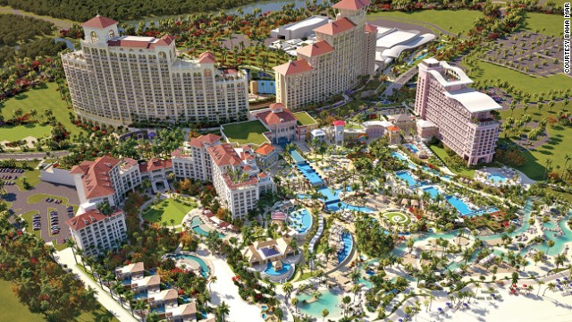 On Nassau, Bahamas', Cable Beach, Baha Mar includes four hotels, a golf course, 30 restaurants and bars, 14 pools and a casino large enough to rival any in Macau.