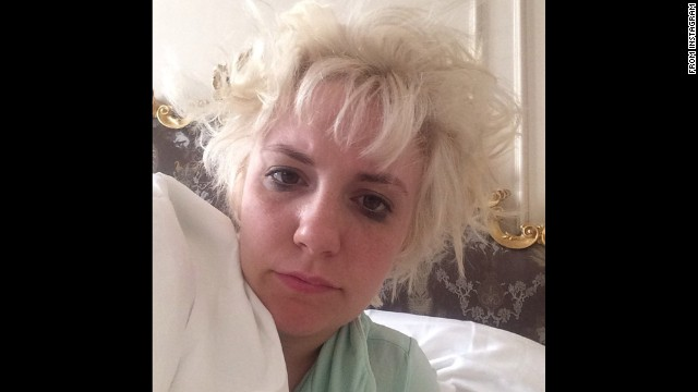 """""""Is this what Beyonce was singing about?"""" asked actress Lena Dunham in this early morning selfie <a href='http://instagram.com/p/sRkQFjC1Gv/' target='_blank'>posted to Instagram</a> on Friday, August 29. She was referring to the """"I woke up like this"""" line from Beyonce's song """"Flawless."""""""