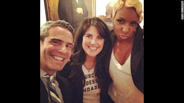 "Television personality Andy Cohen <a href='http://instagram.com/p/vFNH3SnwWJ/' target='_blank'>posted this selfie</a> with Monica Lewinsky, center, and ""Real Housewives of Atlanta"" star NeNe Leakes on Thursday, November 6. They were celebrating Cohen's latest book, ""The Andy Cohen Diaries,"" at the home of CNN's Anderson Cooper. Cohen is an executive producer on ""The Real Housewives"" franchise."