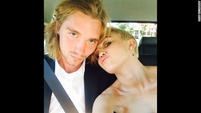 "Miley Cyrus was excited about Jesse Helt escorting her to the<a href='http://www.cnn.com/2014/08/25/showbiz/gallery/mtv-vmas-2014/'> MTV Video Music Awards</a> on Sunday, August 24. She <a href='http://instagram.com/p/sGodKewzB8/?modal=true' target='_blank'>posted their picture on social media</a> with the caption ""My date :) #jesse #myfriendsplace #mtvVMAs2014."" Helt, who said he was homeless, <a href='http://www.cnn.com/2014/08/27/showbiz/miley-cyrus-homeless-date/'>accepted one of Cyrus' awards</a> ""on behalf of the 1.6 million runaways and homeless youths in the United States who are starving, lost and scared for their lives right now."""