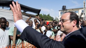 French Pres. visits Ebola-stricken Guinea
