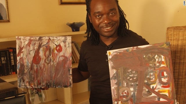 Elson Kambalu is one of Malawi's leading artists. Passionate about creativity, he spends much of his time outside of painting to help manage other artists and inspiring the youth of his homeland to think creatively.