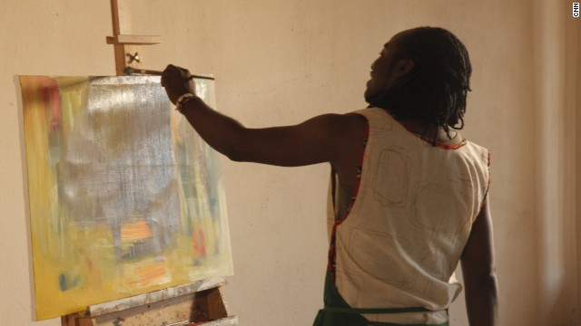 "Describing his style, Kambalu explains: ""I think my art is quite contemporary. That's what makes it different. I think that's what makes me different. And that's what you see in my art -- it's quite modern as opposed to being just figurative."""