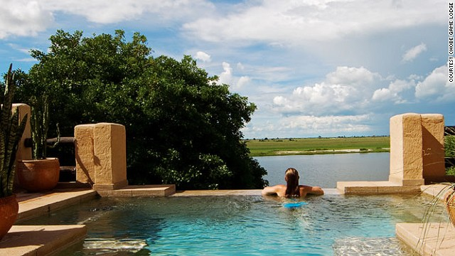 Luxury suites at the Chobe Game Lodge have their own private swimming pools.