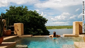 Swim safari: Some suites at the Chobe Game Lodge have private pools