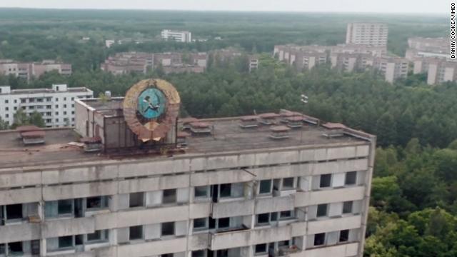 Impresionante video de un drone sobre una ciudad fantasma de Chernóbil