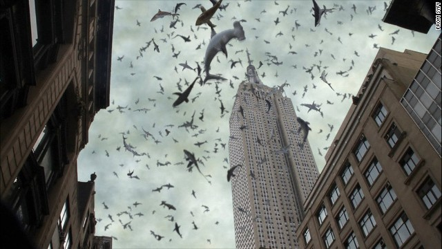 """<strong>""""Sharknado 2: The Second One"""" (2014): </strong>The sequel to the wildly popular Syfy TV movie finds a freak storm of sharks attacking the Big Apple. <strong>(Netflix)</strong>"""