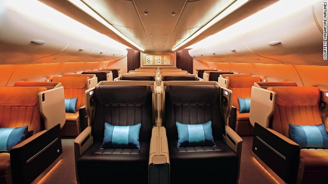 Singapore Airlines lands at sixth place in AirlineRating.com's top 10. The airline's business class features an inclined-flat seat (with a gentle 8-degree incline) and a fixed back shell that offers enhanced privacy.
