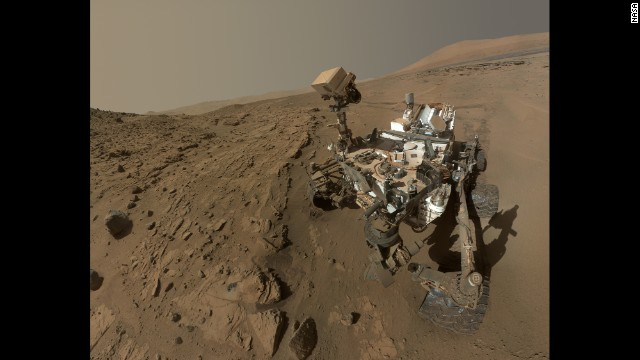 <strong>June 24:</strong> NASA releases a selfie of the Mars rover Curiosity. The selfie, a composite of dozens of images captured in April and May, celebrated a full Martian year -- 687 days -- <a href='http://ift.tt/1b9i3IK'>since the rover's touchdown on the Red Planet.</a>