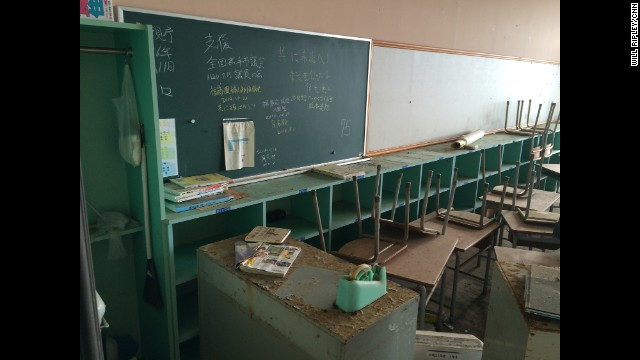 "JAPAN: ""Inside a Fukushima classroom. Students & teachers ran to a hill during tsunami. All survived."" - CNN's Will Ripley. Almost four years after the Fukushima meltdown, tour guides are now taking people through the abandoned neighborhoods. <a href='http://edition.cnn.com/video/data/2.0/video/world/2014/12/01/pkg-ripley-japan-fukushima-tourism.cnn.html'>FULL STORY AT CNN.COM</a>. Follow Will (<a href='http://instagram.com/willripleycnn' target='_blank'>@willripleycnn</a>) and other CNNers along on Instagram at <a href='http://instagram.com/cnn' target='_blank'>instagram.com/cnn</a>."