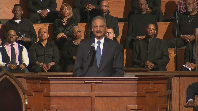 Ferguson fallout: Protesters interrupt Holder's speech