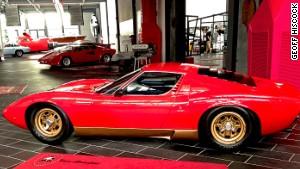 Red heat: A 1967 Lamborghini Miura at the Ferruccio Lamborghini Museum in Funo