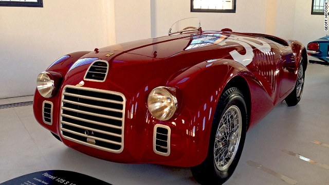 A 1947 Ferrari 125 S at the Enzo Ferrari Museum. There's free entry to this museum with a ticket from the Museo Ferrari in Maranello.