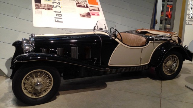 The 1929 Fiat 525 SS -- on display at the Fiat Centro Storico in Turin -- is rated as one of the most beautiful vehicles of its era.