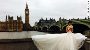 Couples fly to London for wedding pics