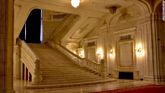 Ceausescu, who was touchy about his small stature, had staircases in the palace rebuilt twice to accommodate his step.