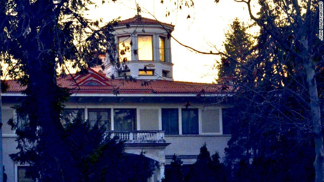 The dictator's villa in leafy northern Bucharest is now an embassy building, housing Kuwait's diplomatic mission.