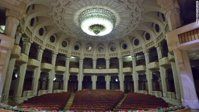 This theater within the palace gives some idea of the scale an opulence of the building which today costs $  6 million a year to keep running.