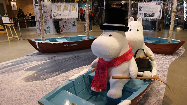 The Moomin cafe and souvenir store is located in Hong Kong's Harbor City shopping mall. There will be a separate pop up store in the mall until January 2015.