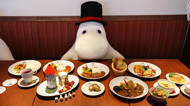 Japan's Moomin Cafe has opened a branch in Hong Kong. Solo diners can share the table with the characters at Moomin Cafe.