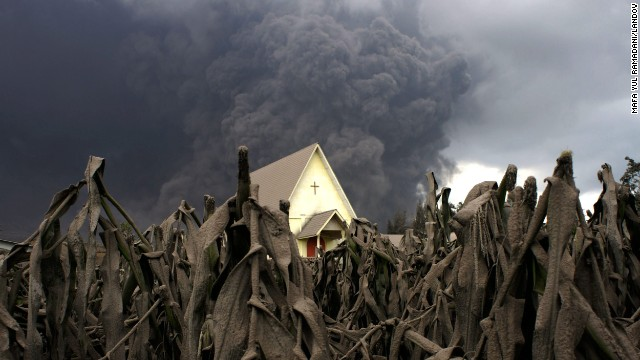 <strong>January 6:</strong> A cornfield in Karo, Indonesia, is covered with volcanic ash following the eruption of Mount Sinabung. <a href='http://www.cnn.com/2013/11/20/world/gallery/recently-active-volcanos/index.html'>See other recently active volcanoes</a>