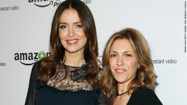 """Agents of S.H.I.E.L.D."" actress Saffron Burrows, left, is also a newlywed. The 42-year-old revealed in an interview with <a href='http://www.theguardian.com/tv-and-radio/2014/dec/01/saffron-burrows-married-to-alison-balian-mozart-in-the-jungle' target='_blank'>The Guardian</a> that she eloped with her longtime girlfriend, ""Ellen DeGeneres Show"" writer Alison Balian, in August."