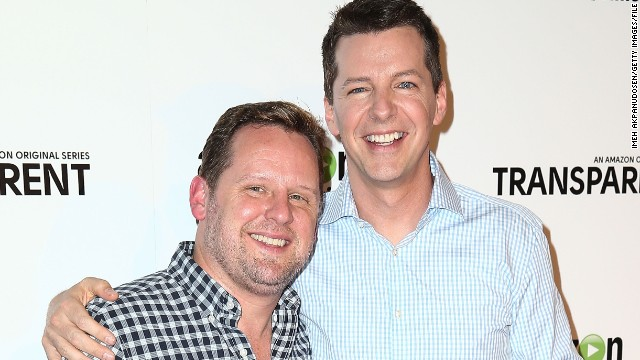 "In November, ""Will and Grace"" star Sean Hayes, right, tied the knot with music producer Scott Icenogle. ""Here's a ‪#‎TBT‬ photo of Scotty and me getting married last week,"" Hayes shared on Facebook on November 20. ""Took us 8 years but we did it!"""