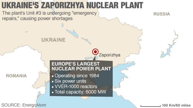 Reparaciones de emergencia en una planta nuclear de Ucrania