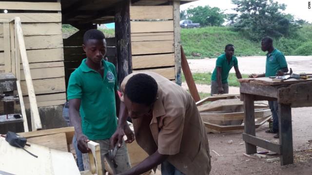 Affutu employs six members of staff to help him create his imaginative pieces.