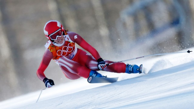 Gisin set a time of one minute 41.57 seconds on the treacherous Rosa Khutor piste.